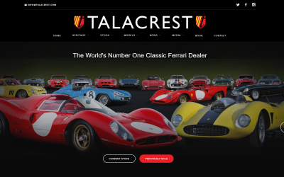 Talacrest Classic Ferrari: Dealing in Dreams Book By John Collins Talacrest £100